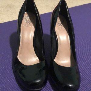 Patent leather heel